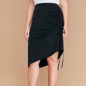 Lane Bryant Side Ruched Midi Skirt